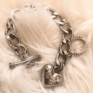 Juicy couture chain & heart bracelet- silver